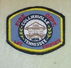 """Collierville Fire Dept Patch - Tennessee - 4 1/4"""" x 3 1/2""""  - vintage"""