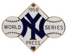 1958 New York Yankees World Series Press Pin (NM-MT) Stengel Berra Ford Mantle