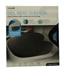 TypeS Gel Seat Cushion Ergo Contour Black (Unboxed)