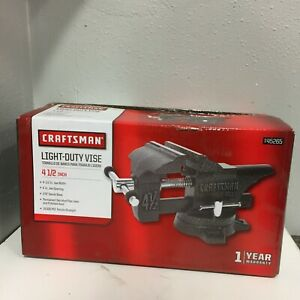 Craftsman 00945265 4.5 in. Steel Bench Vise 270 Deg. Swivel on Base
