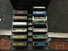 Rare Mediaphile Atari Game Storage Unit With 13 Vintage Atari Games