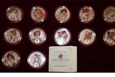 Niue Set 12 coins 1 $ 2010-2011  Alfons Mucha Zodiaс  Silver Coloured