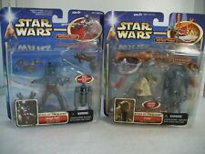 STAR WARS AOTC DELUXE JANGO FETT W/ELECTRONIC JET PACK & YODA W/FORCE POWERS NEW