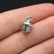 5 Buddha Charms Antique Silver Tone 3D - SC1488