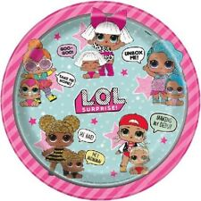"""8 x LOL Surprise 9"""" Paper Plates Girls Birthday Party Tableware Supplies Childs"""