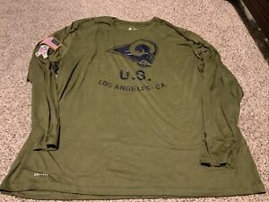 2018 Los Angels Rams Nike Salute to Service L/S STS Shirt Men's Size: 4XL NWT