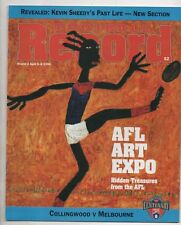 Football Record 1996 COLLINGWOOD v MELBOURNE round 2 has ink PIES Huge Win
