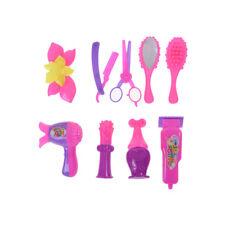 9X Barbie Puppe Zubehör Friseursalon Kit Kinder Spielen Geschenk Puppenhaus@bG