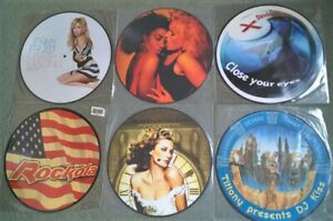 """JOB LOT OF SIX HOUSE / HARD HOUSE 12"""" PICTURE DISC SINGLES"""