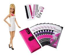 MATCFD56 - Atelier de Mode Barbie avec une Poupée Mannequin de 29 cm + Tissu Imp