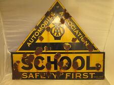 AA School enamel sign. vintage sign.enamel sign. RAC. AA.