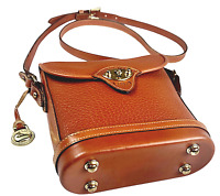 VTG Dooney & Bourke USA CAVALRY Spectator All Weather Leather Crossbody Bag EUC
