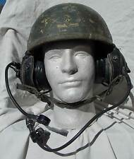 US Army USMC Desert Warfare Armored Tank Crewmans Complete Hat ,Earphones & Mike