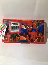 Spider-Man With Twisting Calculator Cartoon Birthday Christmas Pencil Gift Box
