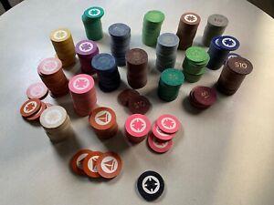 Amazing Bulk Lot of 320+ Asstd Vintage Poker Chips~Casino~Cards+Case~