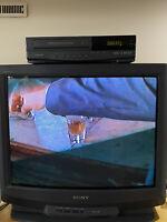 Sony Trinitron 27 Inch Color CRT TV Retro Gaming Nintendo SEGA Playstation Works
