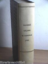 GIORNALE ITALIANO DI CHIRURGIA Istituto Patologia Chirurgica Policlinico 1961 di