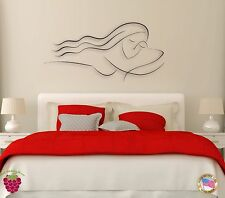 Wall Sticker Girl Woman Female Sleeping for Bedroom  z1269