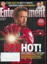 ROBERT DOWNEY JR interview Iron Man 2 BETTY WHITE Modern Family 2010 EW magazine