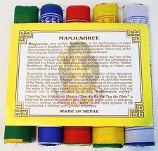 Tibetan Prayer Flags Manjushree Wisdom Intelligence Mantra 10 Flags 24 x 20 cm