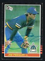 Jim Presley #240 signed autograph auto 1985 Donruss Baseball Trading Card