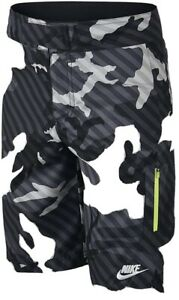 Boys Nike Grey Camouflage Swimming Shorts Age10-12 yrs Size L Slim fit RRP £30