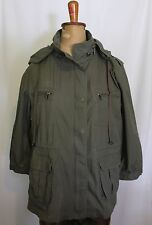 WITCHERY ~ Military Khaki Green Utility Cotton Hooded Anorak Jacket ~ L (14)