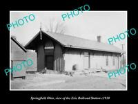 OLD LARGE HISTORIC PHOTO OF SPRINGFIELD OHIO, THE ERIE RAILROAD STATION c1910 2