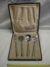servizio per dessert di metallo cromato nel suo scatola stile 1930
