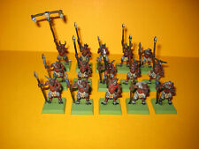 Hombres animales-beastmen - 15x ungors with Spear-con lanzas de metal