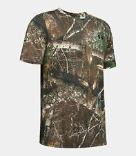 UNDER ARMOUR UA Scent Control Camo Short Sleeve Shirt Realtree Edge M MD 1343240