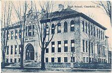 High School in Clearfield PA Postcard
