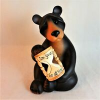 "Backyard Buddies Second Nature ""I'm Yours for All Time"" Bear Hour Glass 30014"