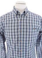 Eddie Bauer Mens Classic Fit Button Down Plaid Shirt Blue Plaid Sz S