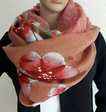 Damen Loop Schlauchschal Tuch Muster Blumendruck multicolor *super schick*Neu!!!