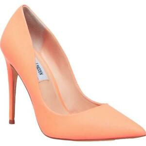 Steve Madden Womens Daisie Pink Patent Heels Shoes 8 Medium (B,M) BHFO 4625