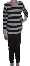 Ex-Store Grey + Black Stripe Pyjamas Various Sizes NWOT