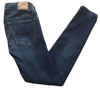 Women's AE American Eagle Super Stretch Dark Blue Denim Skinny Jean/Jegging~Size