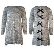 Robes gris décontractées à manches longues pour fille de 2 à 16 ans