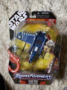Star Wars Transformers Clone Pilot Republic Gunship 2008 Hasbro Figure SEALED!