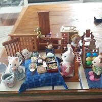 Sylvanian Families Japanese Style Room Doll Set Vintage Calico Critters Epoch