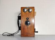 Antico Telefono Legno Fisso da Parete PEREGO Ottimo Arredamento Industrial   959