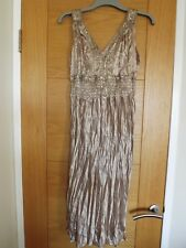 Amaranto gold sleeveless dress with sequin detail - size 12