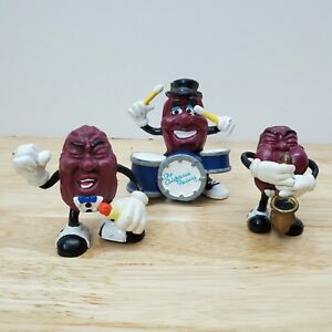 California Raisins Band & Applause Figures Drums Singers Sax 87 Lot of 3