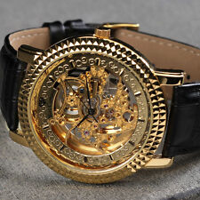 Gold Plated Case Luxury Wristwatches with 12-Hour Dial