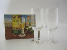 "DARTINGTON Crystal - COMPLEAT IMBIBER Cut - TWO Sherry Glasses - 5 1/2"" - NIB"