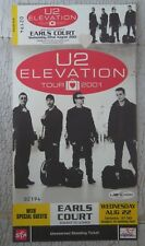 Rare U2 ELEVATION TOUR COMPLETE ticket stub 22nd August 2001 London Earls Court