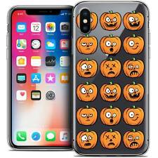 Carcasa Cristal Gel para iPhone X 10 Extra Fina Flexible Halloween