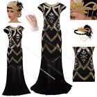 Vintage 1920s Flapper Dress Gatsby Long Prom Party Fringe Facny Costume Clubwear