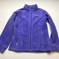 Columbia Girls Size Large Purple Full Zip Fleece Jacket A615